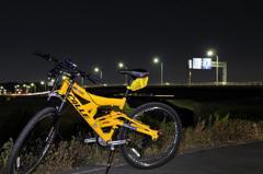 スタジアムと自転車