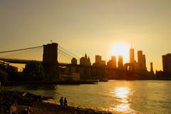 ブルックリン・ブリッジ 夕景