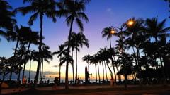 クヒオビーチ夕景