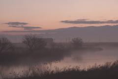 霧のかかる沼