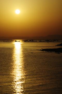 有明海の朝の光景