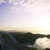 早朝の西海橋