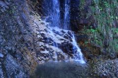 ホワイトロードの無名滝3 滝壺