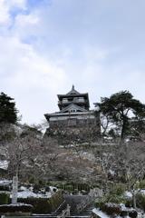国寶 霞ヶ城 薄雪化粧