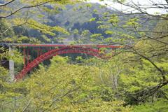 赤い橋(建設中)