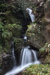 稗田川の無名滝(正面)