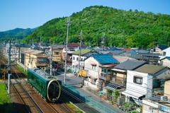 叡山電鉄「ひえい」のある風景