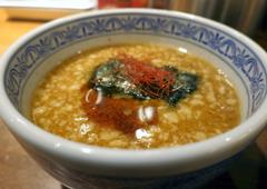 濃厚魚介味噌つけ麺 スープ