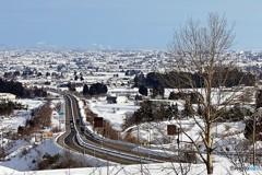 冬の砺波平野