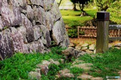 石垣と橋の欄干
