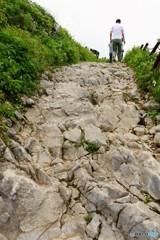 石灰岩の登山道