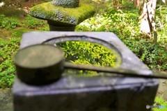 ①水鉢 水に映る