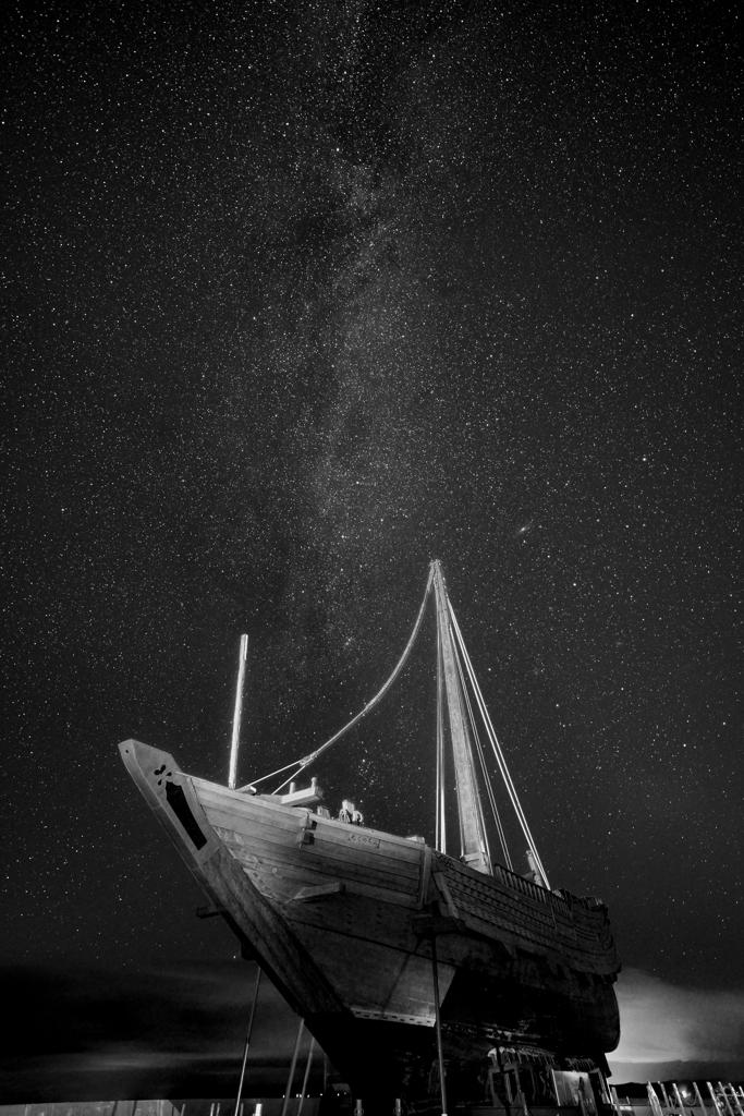北前船と天の川