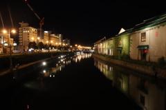 小樽運河 . 夜晚!