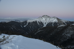 塩見岳 穏やかな夕暮れ