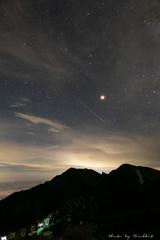 '18夏、 白馬岳で見た流星
