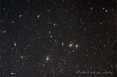 冬の北天に銀河が集う