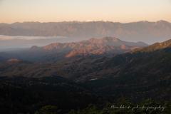 晩秋のころ、南アルプスの稜線