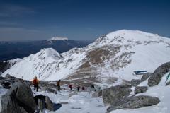 木曽駒ヶ岳の頂、