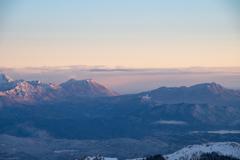 燕山荘から浅間山 朝