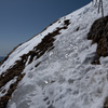 春、赤岳の主稜線