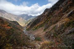 しっとり色づく谷あいの秋