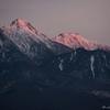 赤岳の峰、夜明
