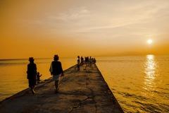 竹富島 西桟橋の夕景