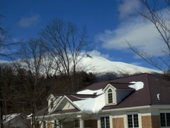 今日の昼ごろの浅間山