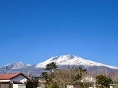 快晴の浅間山
