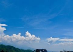 霧ヶ峰から見た夏空