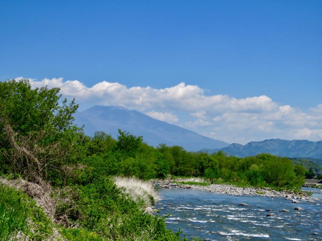 千曲川と浅間山