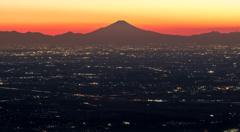 筑波山からの富士