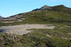 南アルプス茶臼岳-上河内岳~稜線からの上河内岳~