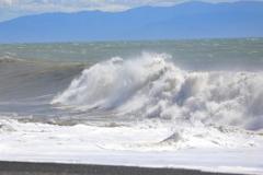 台風一過 海