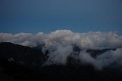 南アルプス茶臼岳-上河内岳~夕闇迫る~