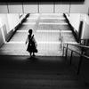 階段と女子
