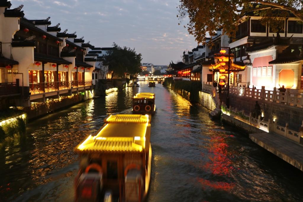 南京の夕暮れ