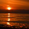 近江の落日。