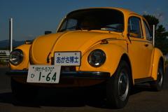 黄色い車。