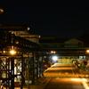 工場夜景。