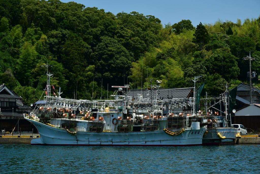 港の風景。