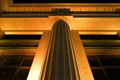 円柱の在る眺め。
