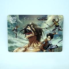 進撃の巨人のQUOカード