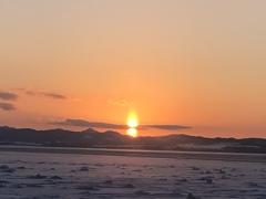 だるまさんのような太陽…能取湖にて