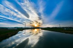 川と空(HDR)