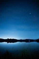 北潟湖の夜
