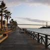 早朝の関門海峡