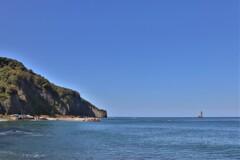 岬とローソク岩