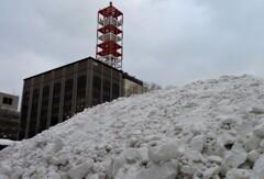 残骸 雪山